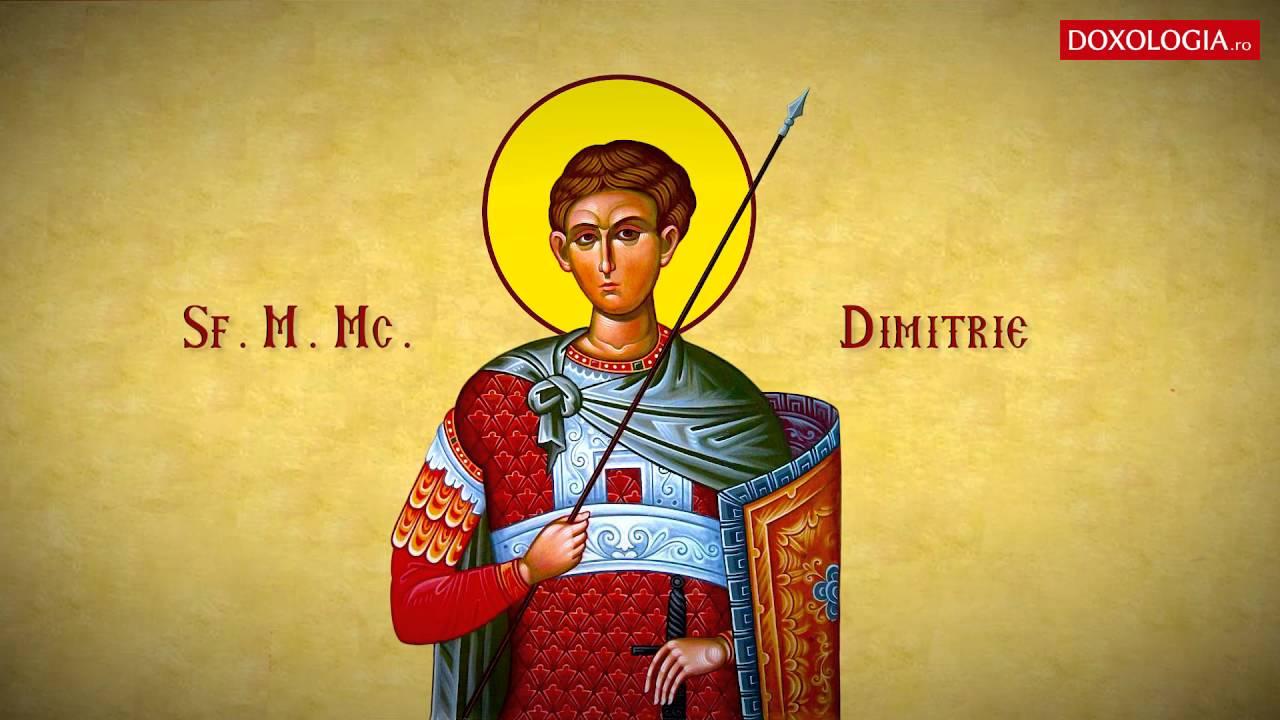 Troparul Sfântului Mare Mucenic Dimitrie, Izvorâtorul de mir (26 octombrie)