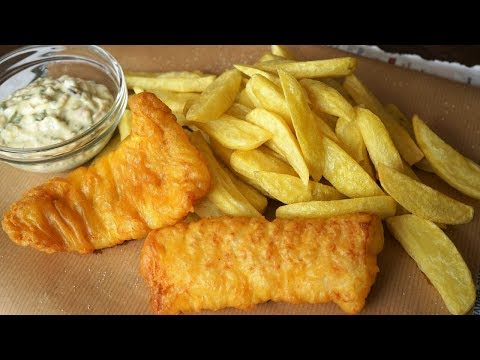 Fish & Chips With Tartar Sauce - London Fast Food Way  - Morgane Recipes