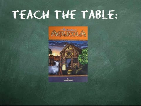 How to play Agricola