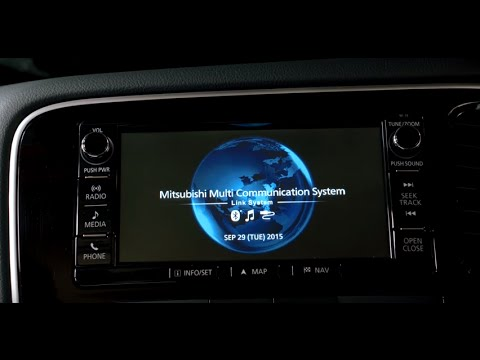 How to use the Outlander PHEV Multi-Media Communications System - Sat Nav,  Radio, Phone & more