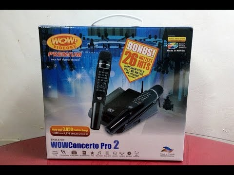 Unboxing WOW Concerto Pro II Karaoke machine
