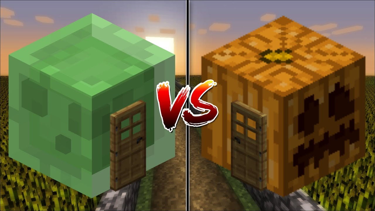 Minecraft Slime House Vs Pumpkin Make Your Own In Mods