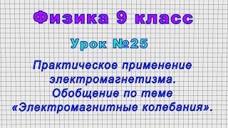 Физика 9 класс (Урок№25 - Практическое применение электромагнетизма. Обобщение по теме.)