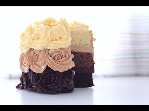 Торт Три шоколада бисквитный / Triple Chocolate Cake Biscuit