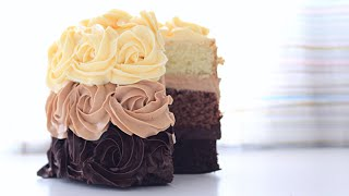 Торт Три шоколада бисквитный / Triple Chocolate Cake Biscuit(НАСАДКА http://www.vtk-moscow.ru/shop/konditerskijj-inventar/dlja-krema/nasadki/group_919/nasadki-zvezdy/art-k855/ ПРОМОКОД