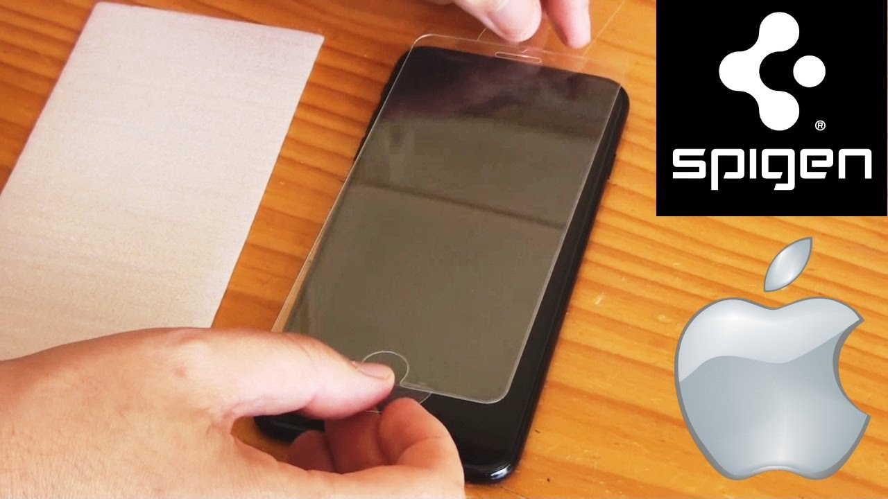 free shipping c62ef 8e045 Iphone 7 Plus - How to Apply SPIGEN Glass Protective Screen & Case 2017