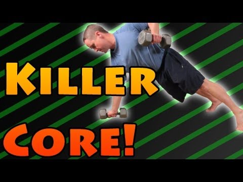 Killer Core Exercise Pushup to 1 Arm Row