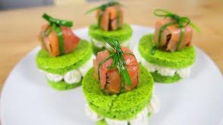 Закуски на праздничный стол с красной рыбой