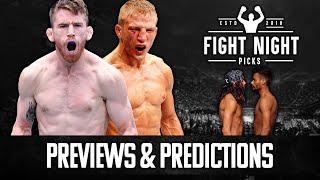 UFC Fight Night: Sandhagen vs. Dillashaw Full Card Previews & Predictions