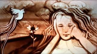 """The Universe"" song by Lesley Kernochan, sand art by Ilana Yahav"