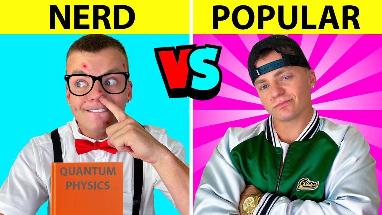 Download HOW TO BECOME POPULAR || Nerd VS Popular in 24 Hours Funny School and Life Hacks by Jack Payne!