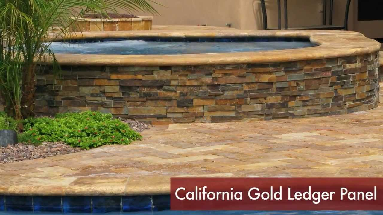 Stacked stone water feature - Ledger Panels In Outdoor Barbecues Pools And Spas Water Features Youtube
