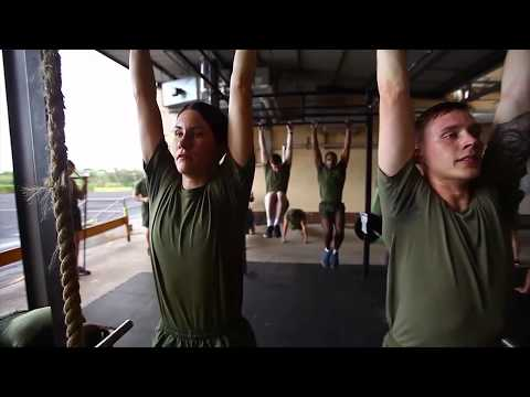 Physical Training Session with Marines aboard Camp H.M. Smith