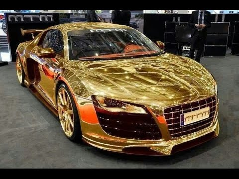 Most Expensive Car Gold Car In Dubai Porsche Gold Car