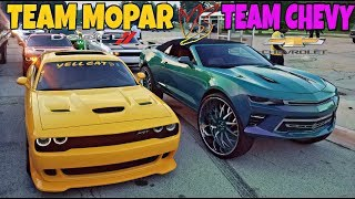 CHEVY GANG VS MOPAR BOYS IT GETS UGLY