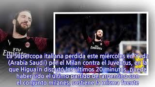 Ni lo disfrutaron: El 'Pipita' Higuaín se irá del Milan alChelsea