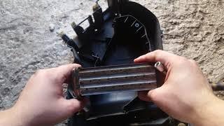 Сборка модуля печки замана радиатора на медный  а медный радиатор Mazda demio dw3w