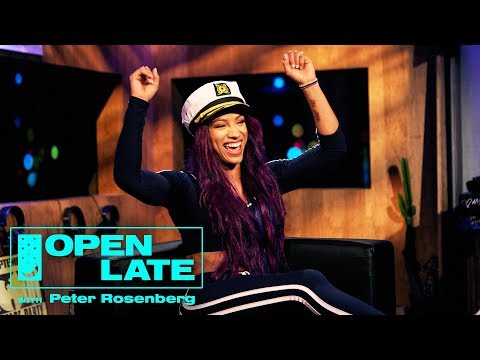 WWE Takeover With Sasha Banks, The New Day, Rusev and Lana  Open Late with Peter Rosenberg