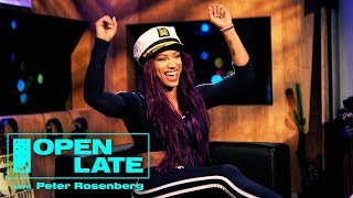WWE Takeover With Sasha Banks, The New Day, Rusev and Lana | Open Late with Peter Rosenberg