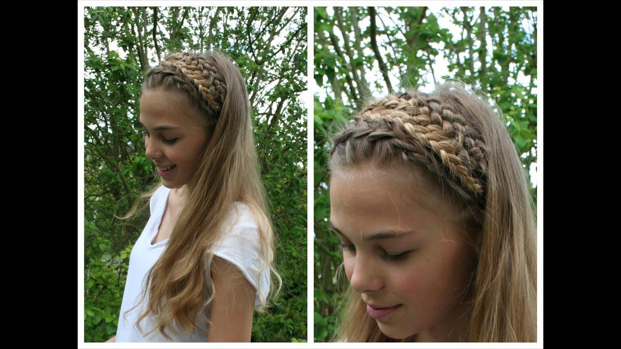 Double Dutch Braided Headband Tutorial  Hairandnailsinspiration  Youtube