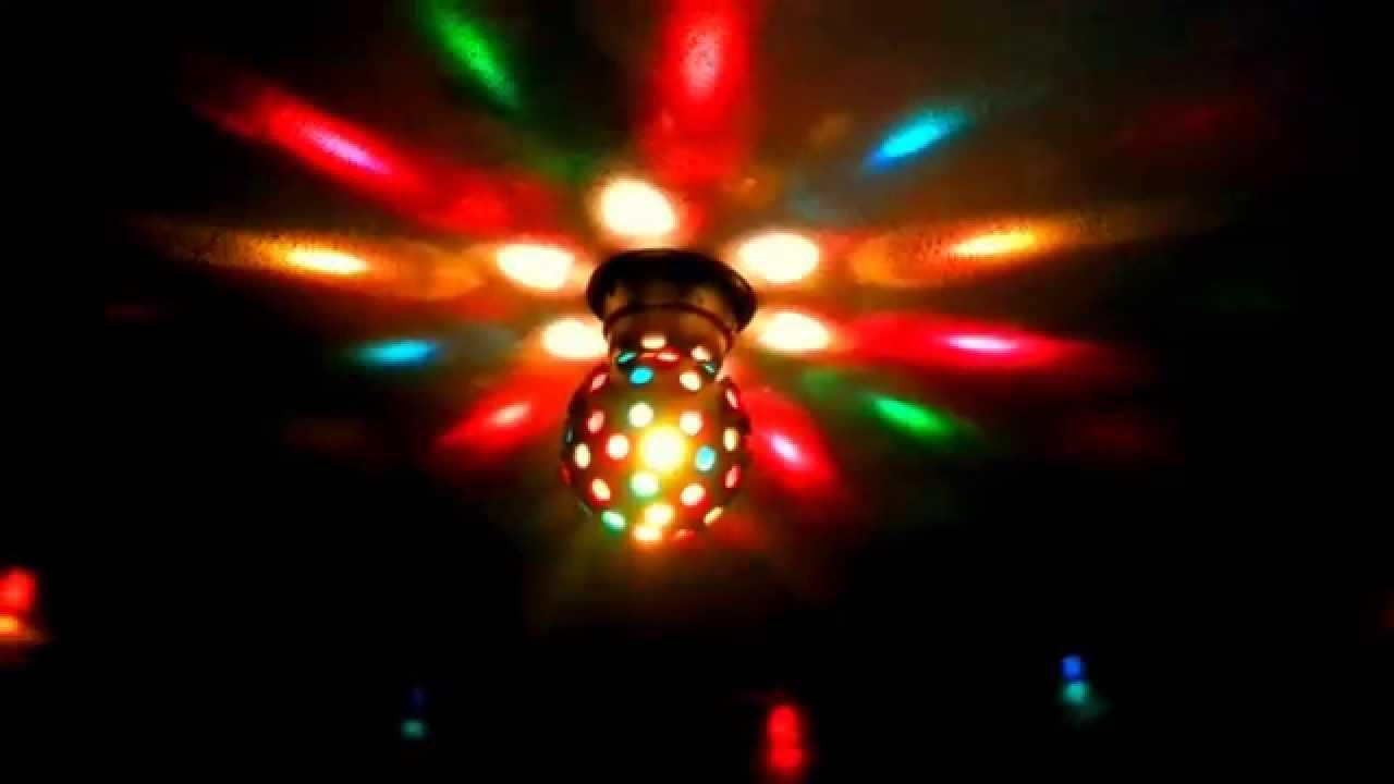 Bola discoteca profesional giratoria con luces youtube - Bola de discoteca de colores ...