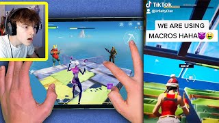 I Caught my TIKTOK Clan MACRO CHEATING in Fortnite Mobile...