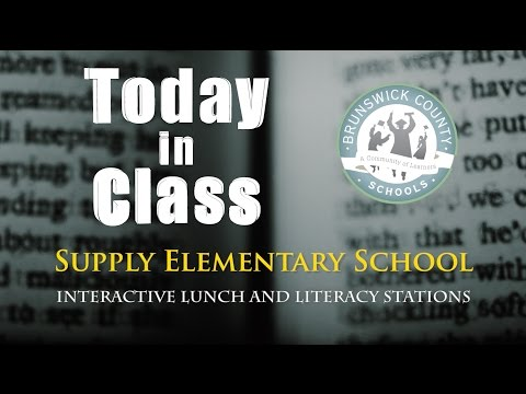 Interactive Lunch and Literacy Stations - Supply Elementary School
