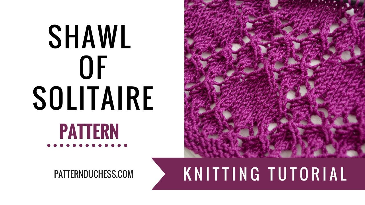 How to knit rectangle lace shawl \