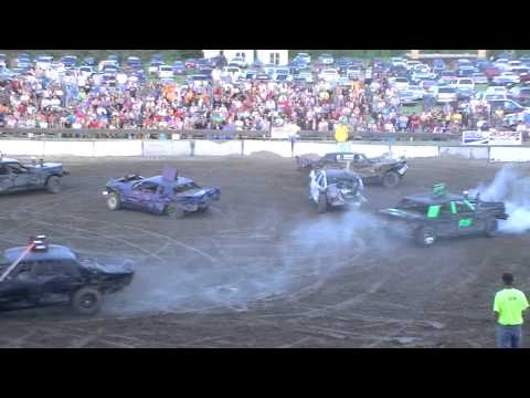 Roseau County Fair Demolition Derby Final