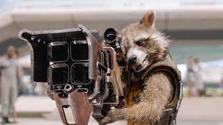 Ракета и Грут ловят Звездного Лорда.Фрагмент из фильма. Стражи галактики. 2014.