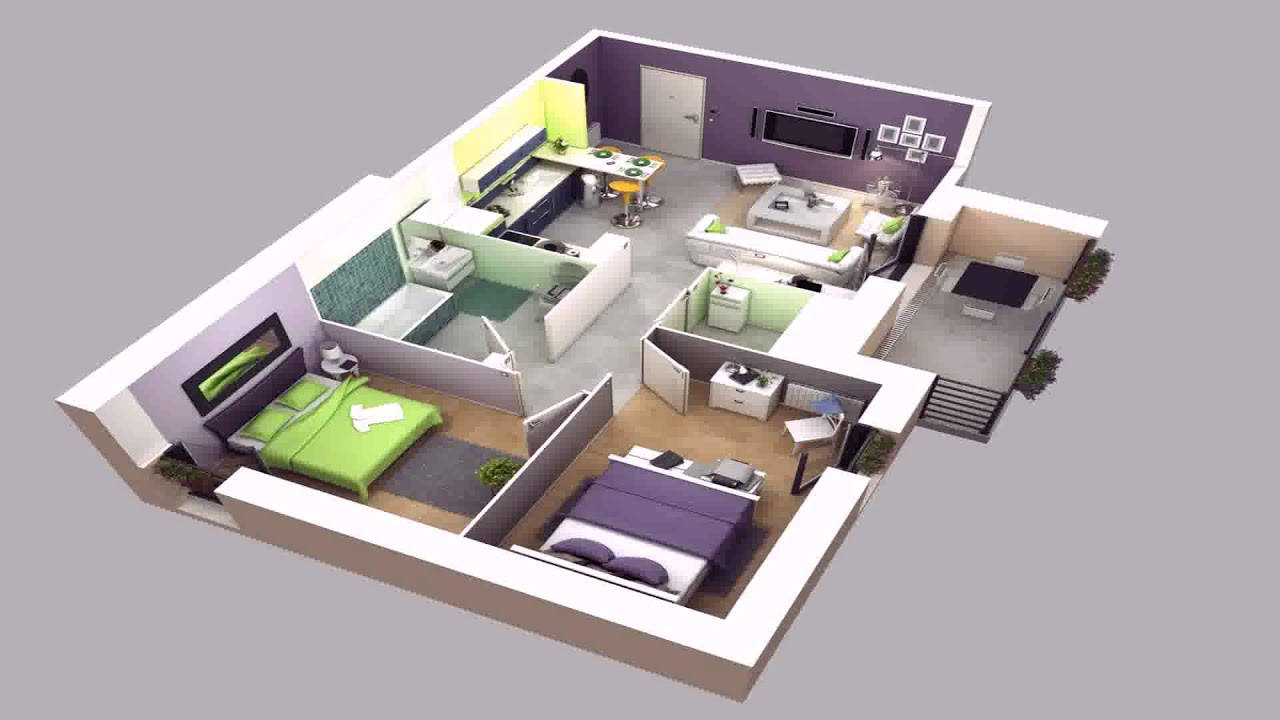 Simple Two Bedroom House Plans In Kenya (see description)
