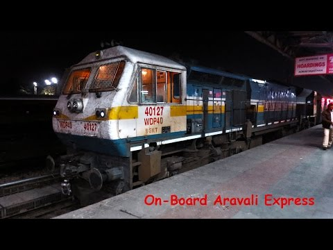 On-Board 19707 Bandra Jaipur Aravali Express!!!!!