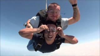First Tandem Skydive at Palm Jumeirah Dubai