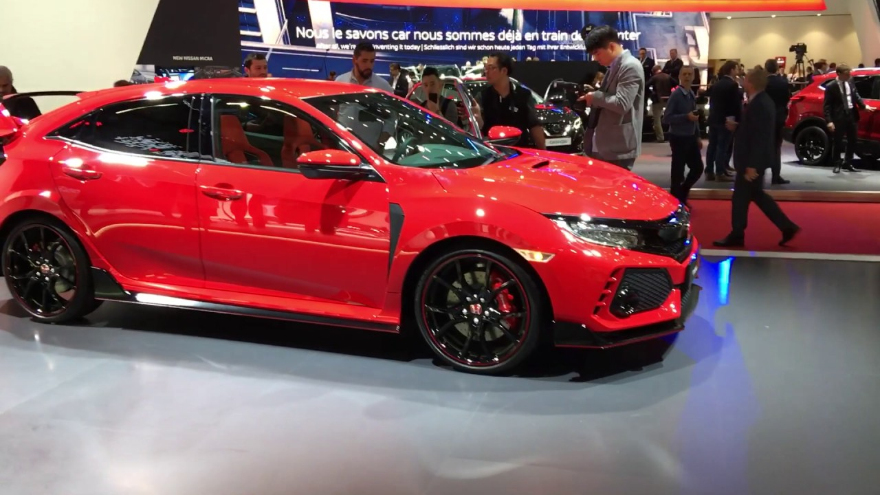 2018 Honda Civic Type R LIVE from Geneva - Inside Lane - YouTube