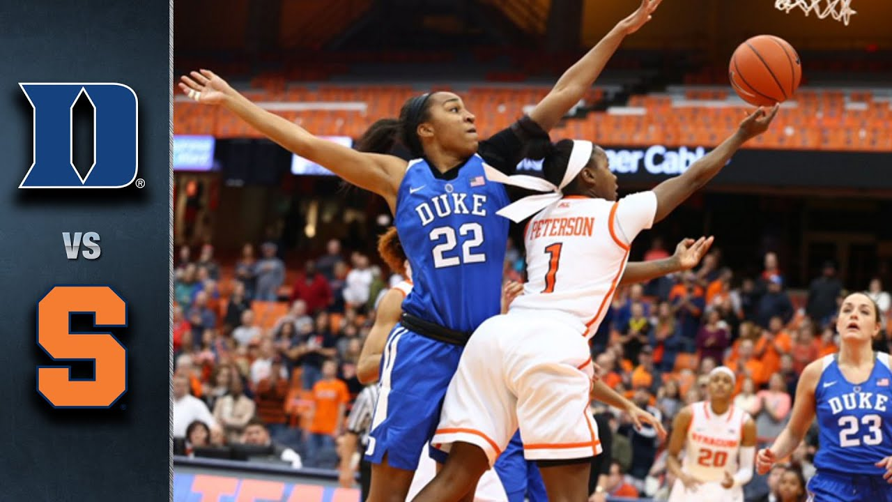 Duke vs. Syracuse Women\u0027s Basketball Highlights (2015-16) - YouTube