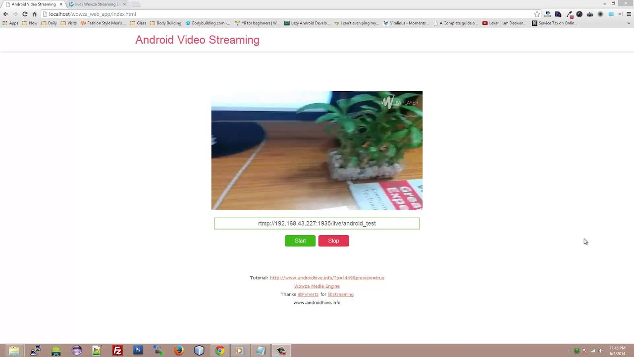 Android Streaming Live Camera Video to Web Page