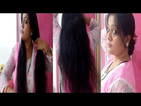 #requestedvideo#Bun#Lowerbun#Indianvloggersonasonam | Lambe balo ke liye simple bun hair style ...