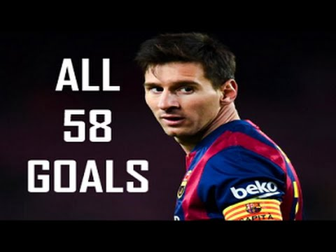 Lionel Messi - All 58 Goals In 2014/15 ● English Commentary