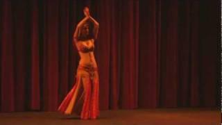 """Masha performing to """"Alf Leyla Wa Leyla""""."""