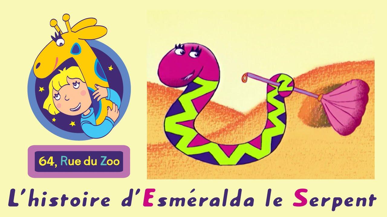 Dessin Animé Serpent 64 rue du zoo - l'histoire d'esméralda le serpent s01e24 hd | dessin