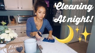 Night Time Cleaning Routine!| Clean With Me!|Cleaning Motivation!