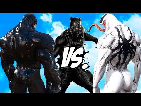 Black Panther VS Venom & Anti-Venom - Epic Superheroes Battle