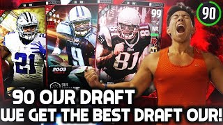 WE DRAFT A 90 OVR TEAM! MY BEST DRAFT OVERALL EVER! MADDEN 17 DRAFT CHAMPIONS