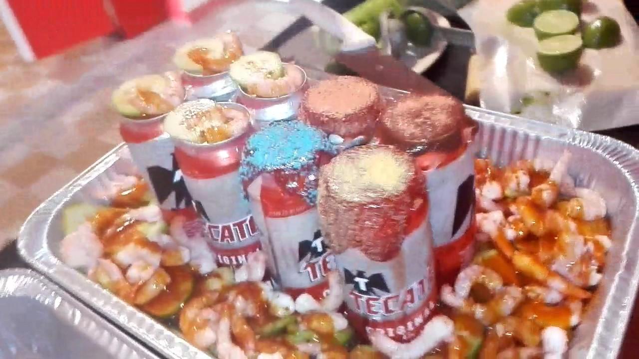 Charola de cervezas con camarones youtube - Coctel de marisco ingredientes ...