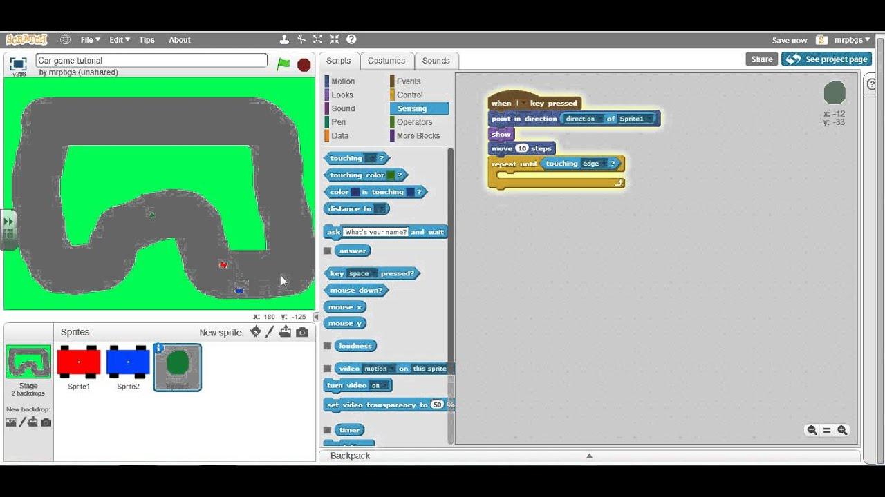 Scratch Tutorial 04 Create A Race Game In Ten Minutes