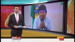 President Morales finally steps down (Bolivia) - BBC News - 11th November 2019