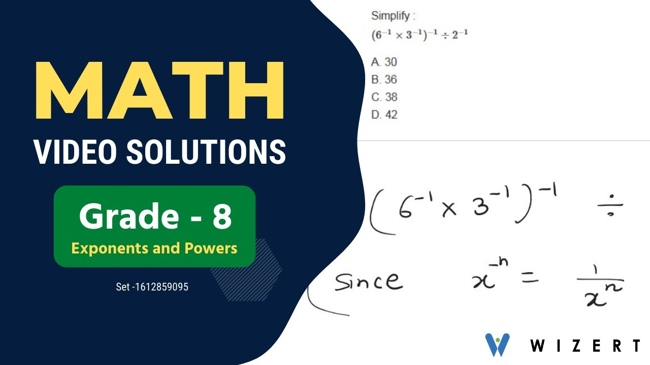 hight resolution of Grade 8 Math Exponents and Powers worksheets - Set 1612859095 - YouTube