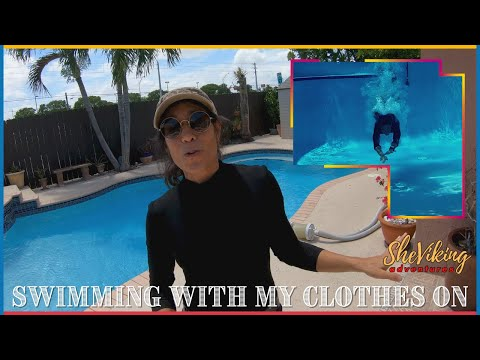 Swimming With My Clothes On [Pool Underwater Swimming]