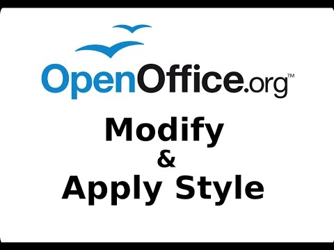 Modify And Apply Style OpenOffice Writer Tutorial