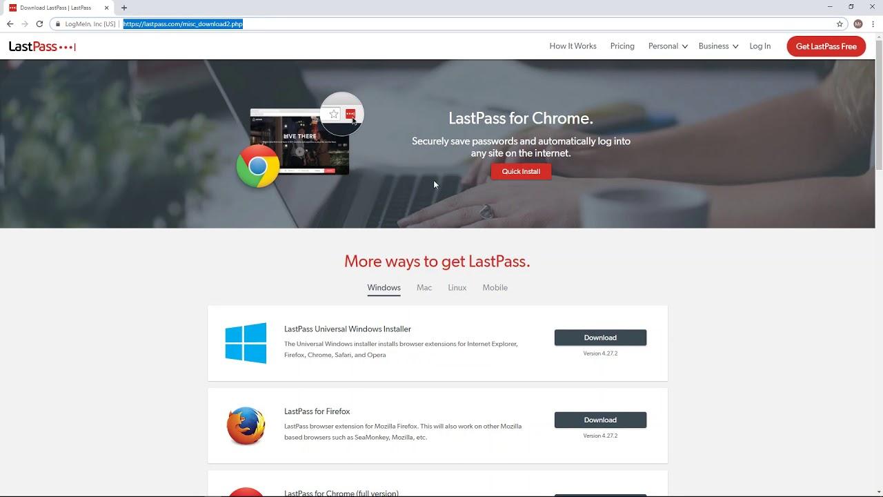 download lastpass chrome extension